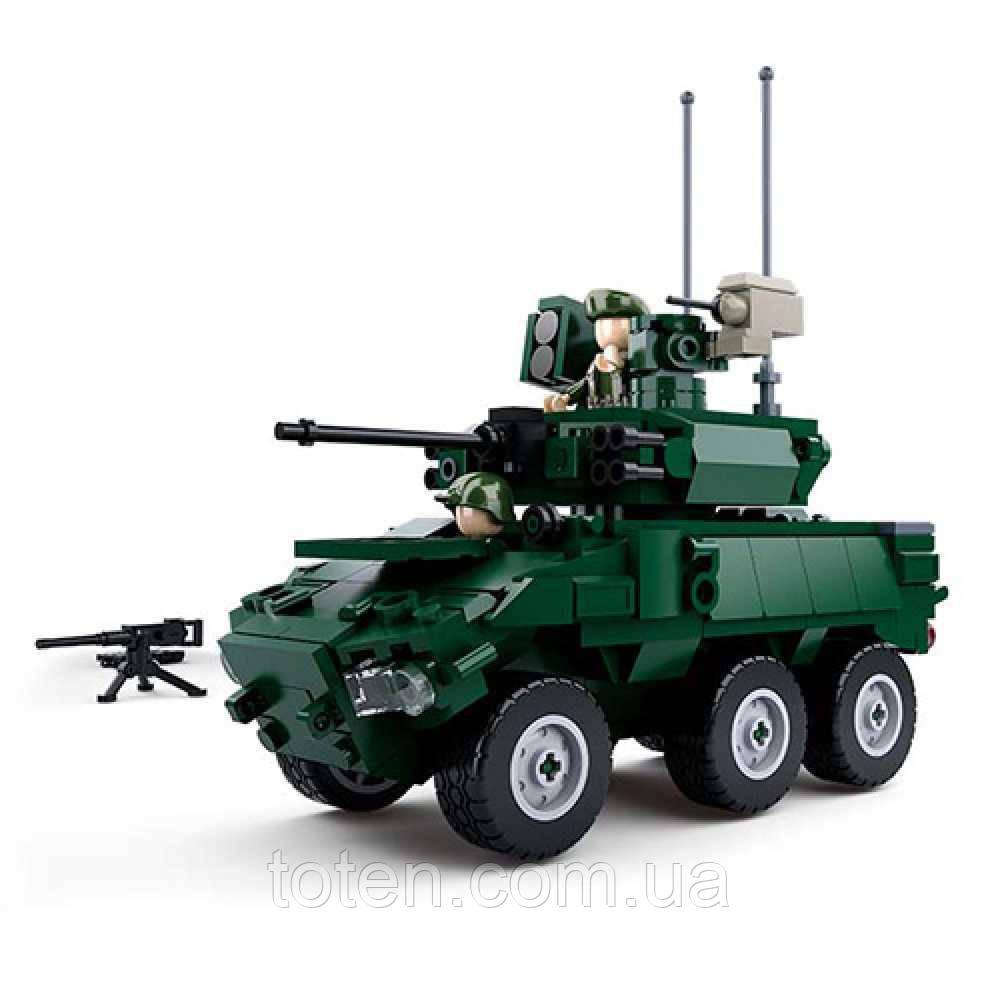 Конструктор SLUBAN M38-B0753 військовий, машина, фігурки, 382 дет 16