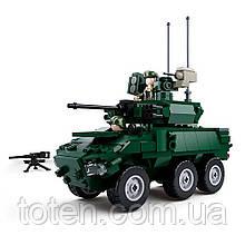Конструктор SLUBAN M38-B0753 военный, машина, фигурки, 382 дет 16