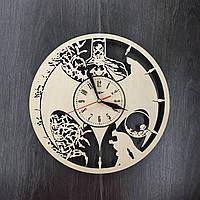 Часы настенные из натурального дерева «Batman style», фото 1