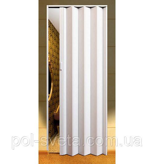 Дверь гармошка Melody арктический белый