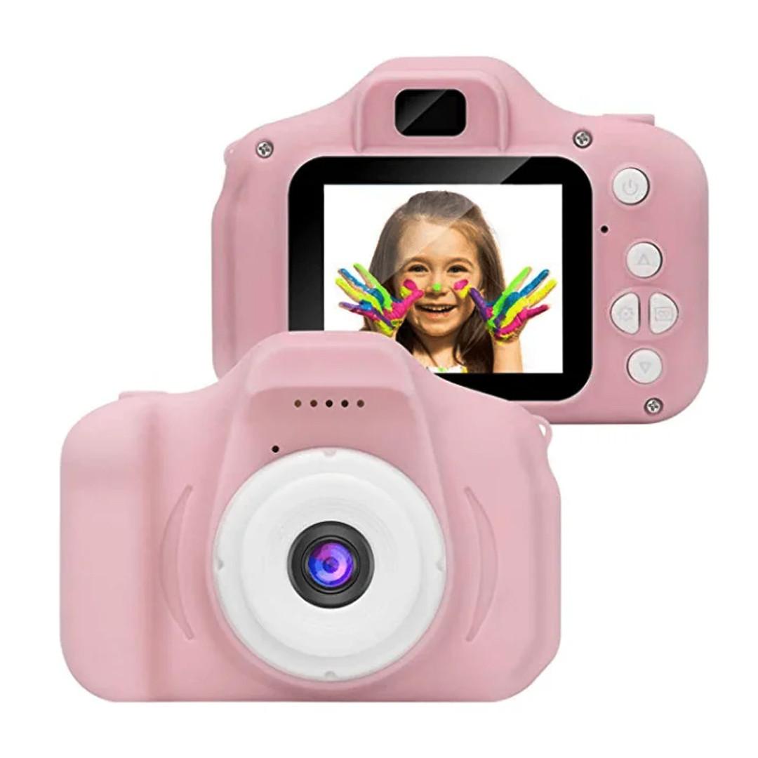 """Детская камера, Детский цифровой фотоаппарат, Kids Camera с дисплеем 2"""" (розовый)"""