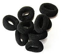 Резинки для волос (100шт) черные, купить резинки оптом