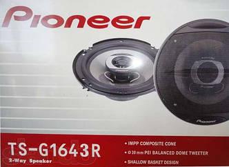 Автомобильные колонки Pioneer TS-G1643R мощность 180W