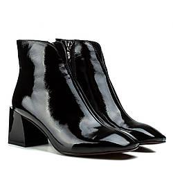 Ботильоны женские KAMANI (изысканные, черные, стильные, на модном каблуке)