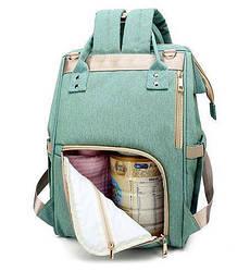 Сумка-рюкзак для мам Baby Bag 5505 Бирюзовый