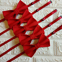 Галстук бабочка красная, кроватка метелик