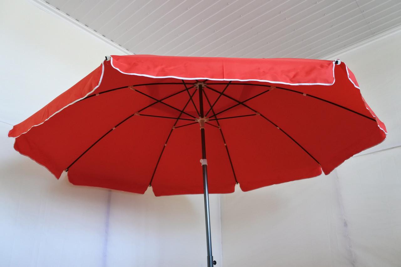Зонт садовый, торговый, брезентовый, 3.5 м, красный, Sansan Umbrella 111