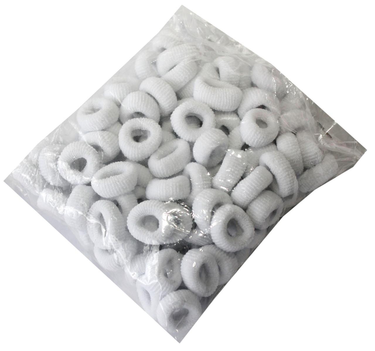 Резинки для волос (100шт) белые