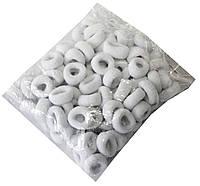 Резинки для волос (100шт) белые, фото 1