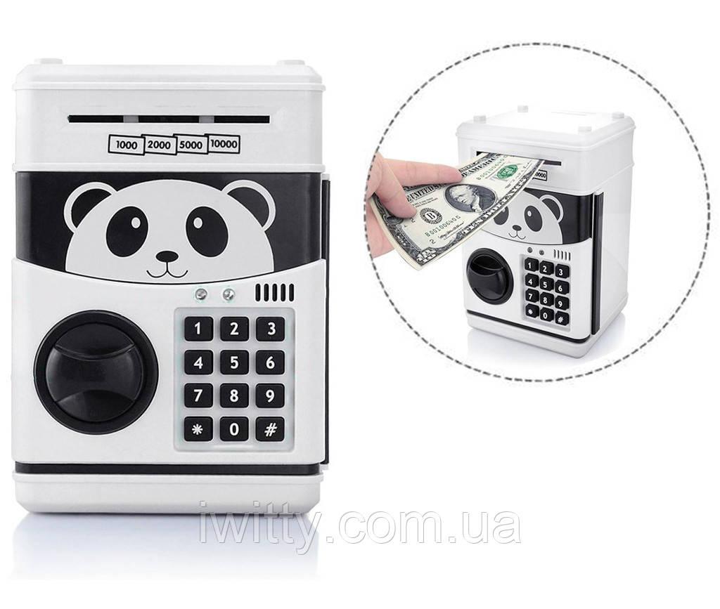 Копилка-сейф с кодом Панда