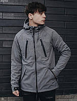 Куртка мужская фирменая Staff soft shell gray ros