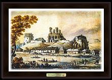 Эко-картина.  Острог. Острозький замок Н. Орда