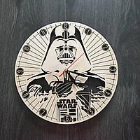 Настенные часы ручной работы из дерева «Звездные войны»
