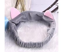Милая повязка для волос с кошачьими ушками серая