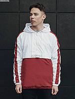 Мужской анорак Staff hopss white & red