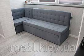 Розкладний диванчик в кухню з индивиидуальной плануванням (Графіт)