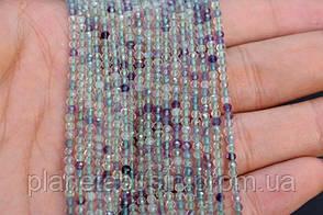 2.5 мм Флюорит, Натуральный камень, Форма: Граненый Шар, Длина: 40 см, фото 2