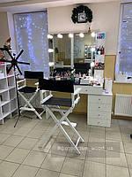 Высокий стул для визажиста, складной, деревянный, стул режиссера, стул для фото сессии, черно-белый 1