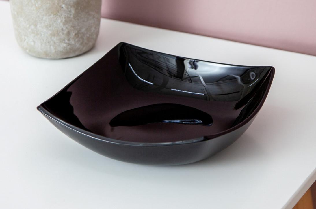 Тарелка суповая 20 см LUMINARC Quadrato Black