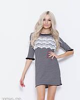 Платья ISSA PLUS WN6-98  S черный/белый