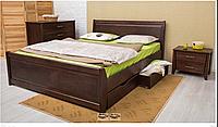 Кровать деревянная с ящиками - Сити. классическая деревянная кровать. Изголовье