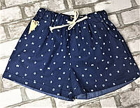 Женские шорты синие