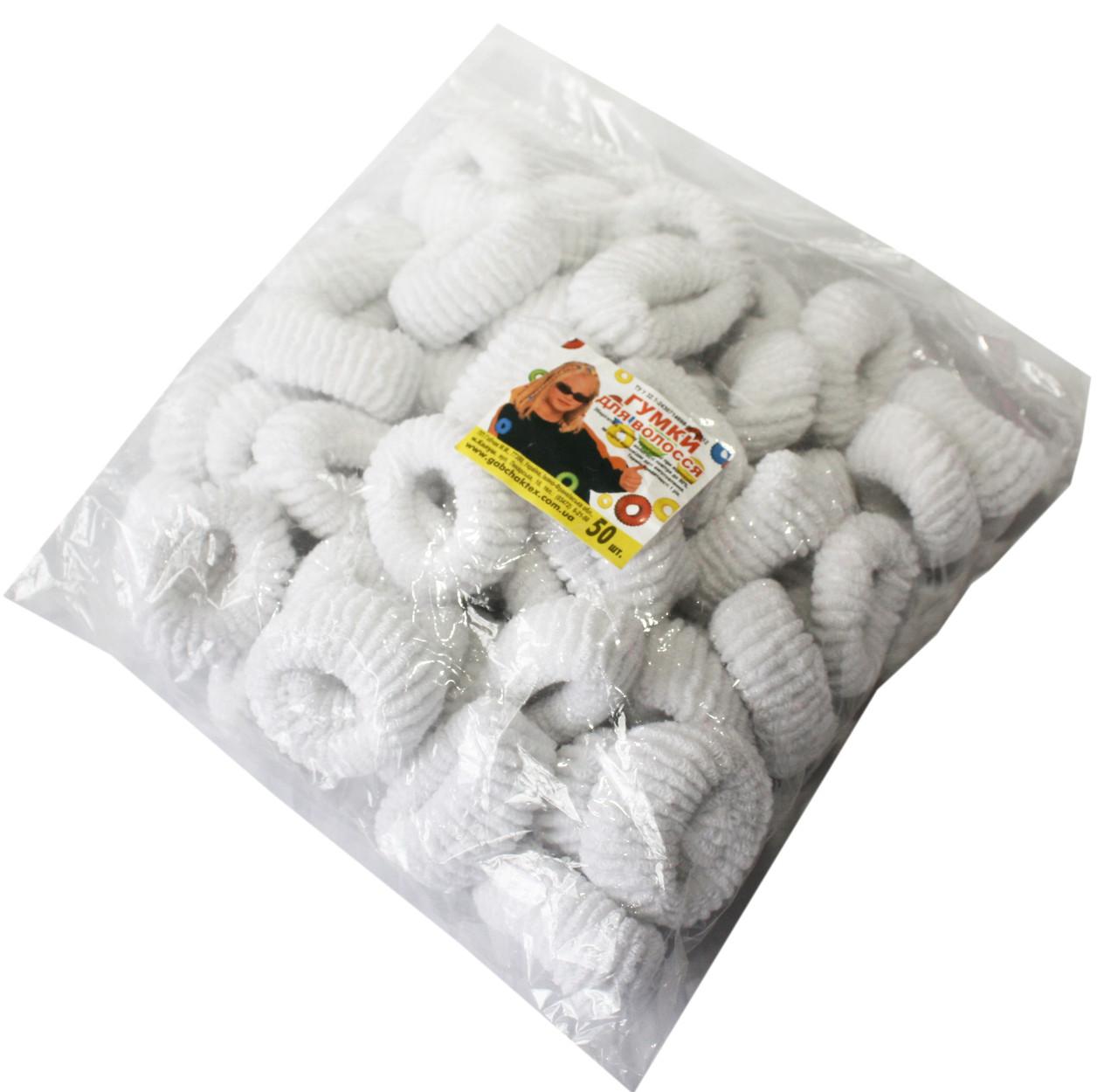 Резинки для волос (50шт) белые