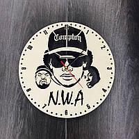Часы настенные «N.W.A», деревянный циферблат, фото 1
