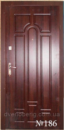 Входные двери темный орех л186, фото 2