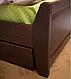 Ліжко дерев'яне з ящиками - Сіті. класична дерев'яна ліжко. Узголів'я, фото 2