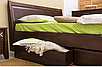 Ліжко дерев'яне з ящиками - Сіті. класична дерев'яна ліжко. Узголів'я, фото 3