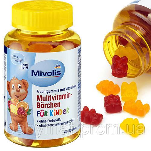 Mivolis Multivitamin-Bärchen fur kinder Мультивитамины для детей 60шт