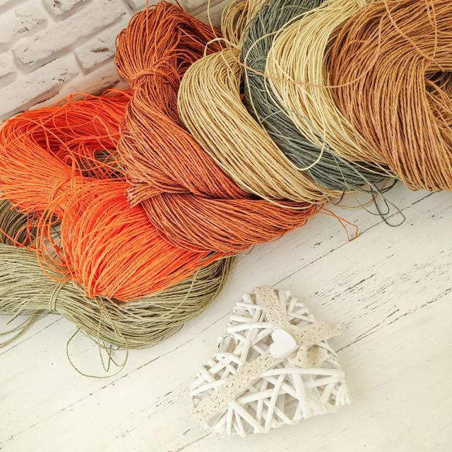 Рафия соломка для вязания шляп и сумок. Регилин.