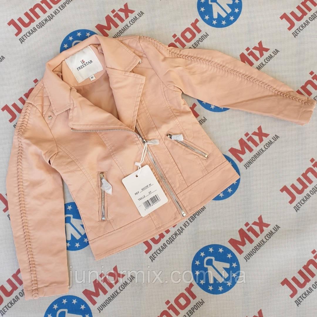 Весняна куртка на дівчинку кожзам оптом FREESTAR