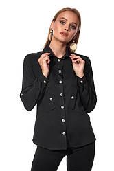 Рубашка 452.2 черного цвета