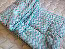 Одеяло из овечьей шерсти демисезонное Зиг-заг, фото 3
