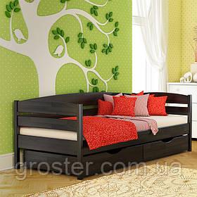 Деревянная кровать Нота Плюс из бука. Детская, подростковая кровать