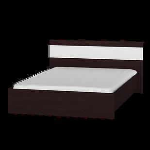 Кровать Соната 1400 Эверест Венге темный/белый