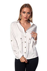 Рубашка 452.3 белого цвета