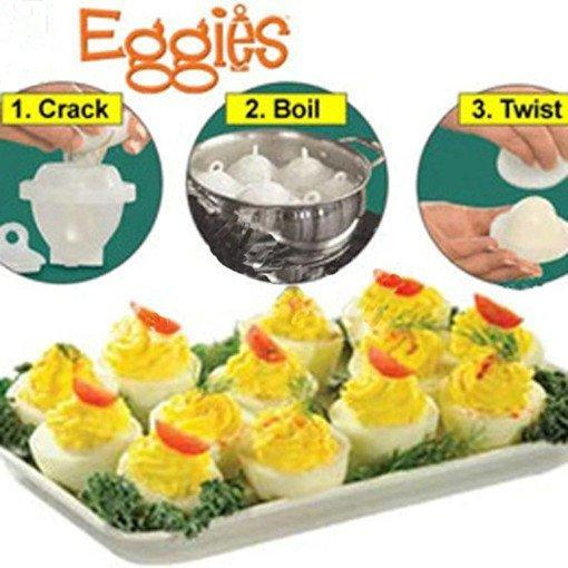 Формы для варки яиц eggies  без скорлупы