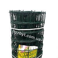 Забор пластиковый, ячейка 89х95мм. рул. 1х20м. КЛЕВЕР (сетка садовая)