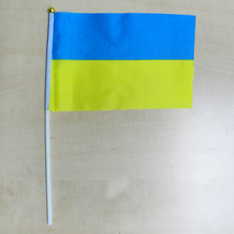 """Флажок """"Украина"""" желто-голубой"""