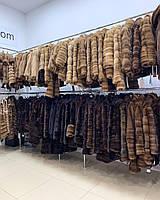 Стильная шубка куртка пальто из каракуля и норки 52 54 размера