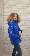 Куртка детская демисезонная для девочки лаковая, от Anernuo 20121, размеры на рост 130, 140, 150, 160, 170, фото 3