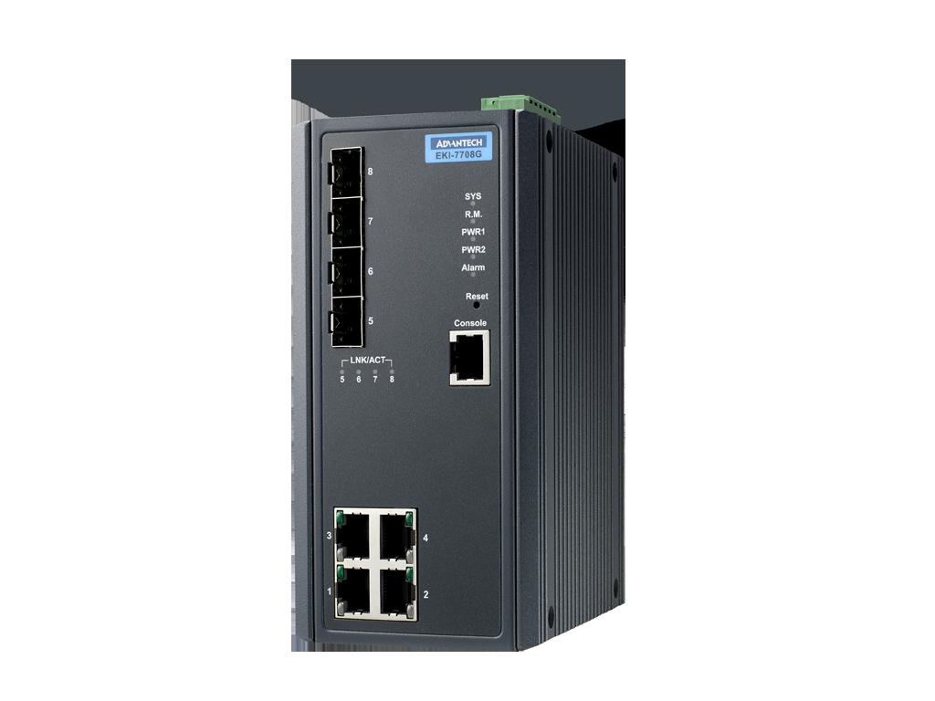 ADVANTECH EKI-7708G-4F-AE Управляемый коммутатор Ethernet 4GE+4G SFP