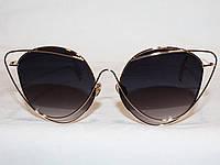 Очки в стиле Louis Lafont 17066 золото черный