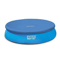 INTEX Тент 28022  для бассейнов диаметром 366см, в кор-ке, 30,5-27-9,5см
