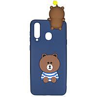 Чехол Cartoon 3D Case для Samsung Galaxy A8s Мишка