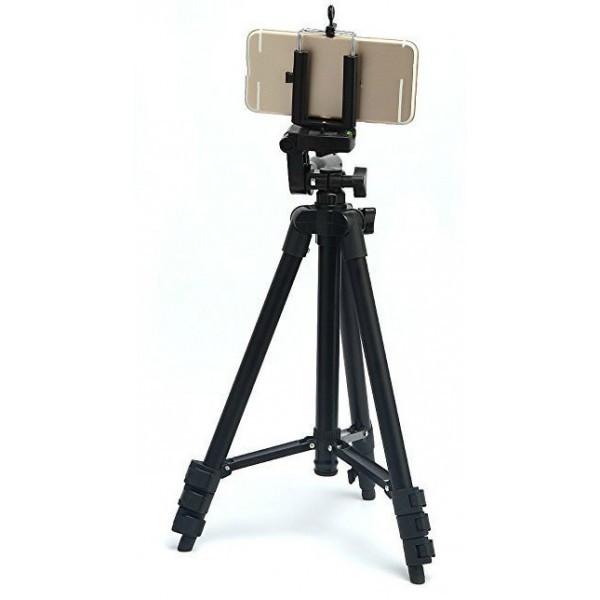 Штатив для фотоаппарата трипод 3120 Black + чехол