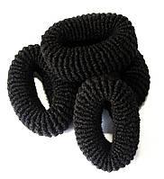 Резинки для волос (12шт) черные, фото 1